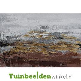 Abstract olieverf schilderij ''Het abstracte landschap'' TBW006121