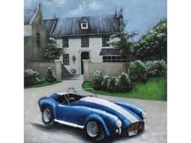 Auto schilderij ''Blauwe cabrio'' TBW001838sc