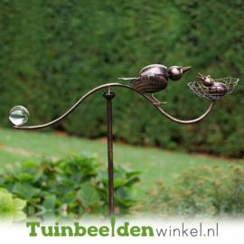 Tuinsteker balans ''Moedervogel en jong'' TBW13137