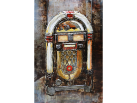 "NR 5 | Metalen schilderij ""De jukebox"" TBW001153sc"