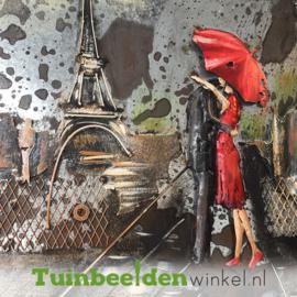 """Metalen schilderij """"Liefde in Parijs"""" TBW6060091sc 60x60 cm"""