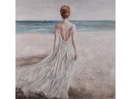 """Olieverf schilderij vrouw """"Mysterieuze vrouw"""" TBW60016sc"""