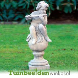 """Engelen beeld """"De fluitspeler"""" op sokkel TWB3br232br"""