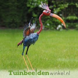 """Metalen tuinbeeld figuur """"De unieke vogel"""" TBW15533me"""