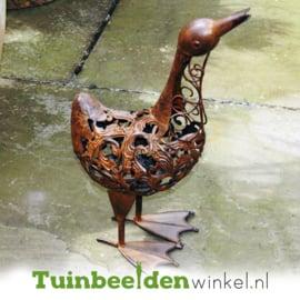 Dieren tuinbeeld ''De roestige eend'' Tbw0871pr03