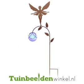 Tuinsteker ''Fee met glazen paarse bal'' Tbw0871pr82