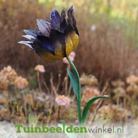 """Metalen bloem """"De eenzame bloem"""" TBW14044me"""