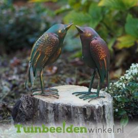 """Metalen tuinbeeld figuur """"De twee stijlvolle vogeltjes"""" TBW39631me"""