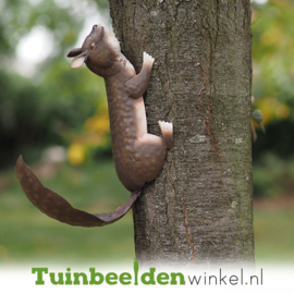 Metalen tuinbeeld figuur ''Het eekhoorntje'' TBW12056