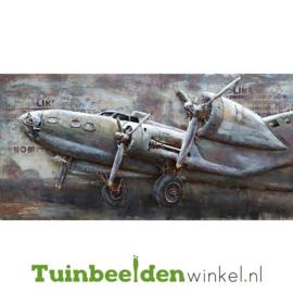 """3D schilderij """"Propellor vliegtuig"""" TBW000721"""