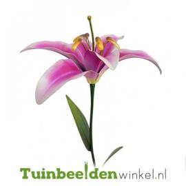 Metalen bloem ''Grote roze lelie'' Tbw0871pr103