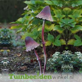 """Metalen figuur """"De bruine paddenstoeltjes"""" TBW13097me"""