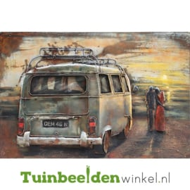 """Metalen schilderij """"De zonsondergang"""" TBW000466 80x120 cm"""