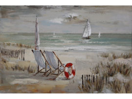 "Boot schilderij ""The beach"" TBW5218sc"