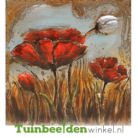 """Bloemen schilderij """"De gesloten klaproos"""" TBW8080025sc"""