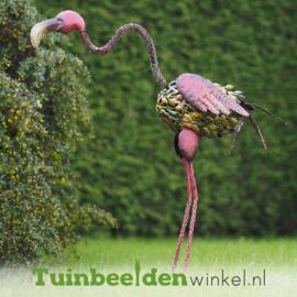 """Metalen tuinbeeld figuur """"De grote flamingo"""" TBW15840me"""