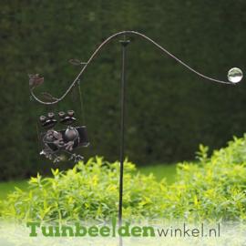 """Metalen kikkers""""De zittende kikkers"""" TBW14017me"""