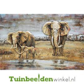 3D schilderij ''De immense olifanten'' TBW001432