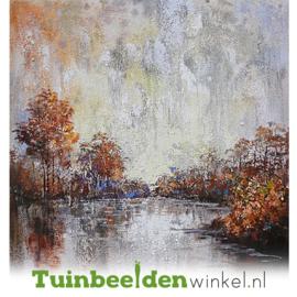 Olieverf schilderij landschap ''Het serene meertje'' TBW005895