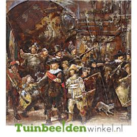 """METALEN schilderij """"De nachtwacht"""" TBW100100025sc"""