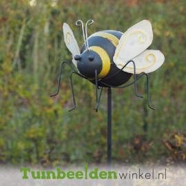 """Metalen tuinbeeld figuur """"De reusachtige bij"""" TBW19571me"""