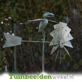 Metalen tuinbeeld ''De intelligente kraai'' TBW17464