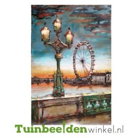 """Metalen schilderij """"Het reuzenrad"""" TBW001244 80x120 cm"""