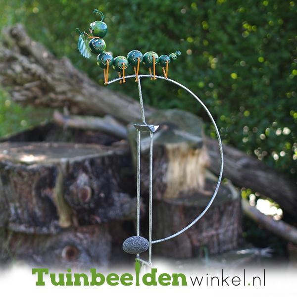 Metalen tuinbeeld figuur ''De kleine rups'' TBW16107