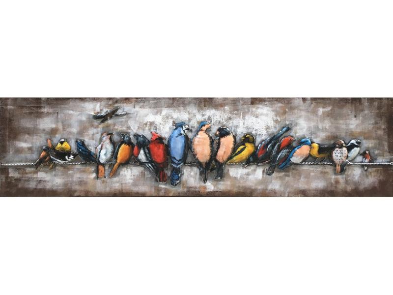 """Vogel schilderij """"Vogel bijeenkomst"""" TBW001780sc"""