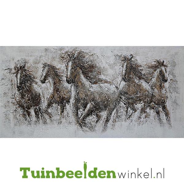 Paarden schilderij ''De wilde paarden'' TBW010073