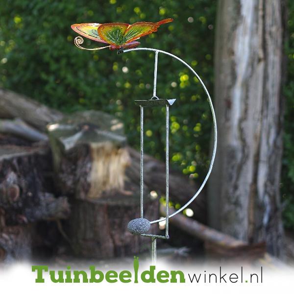 Tuinsteker balans ''De gele vlinder'' TBW16112