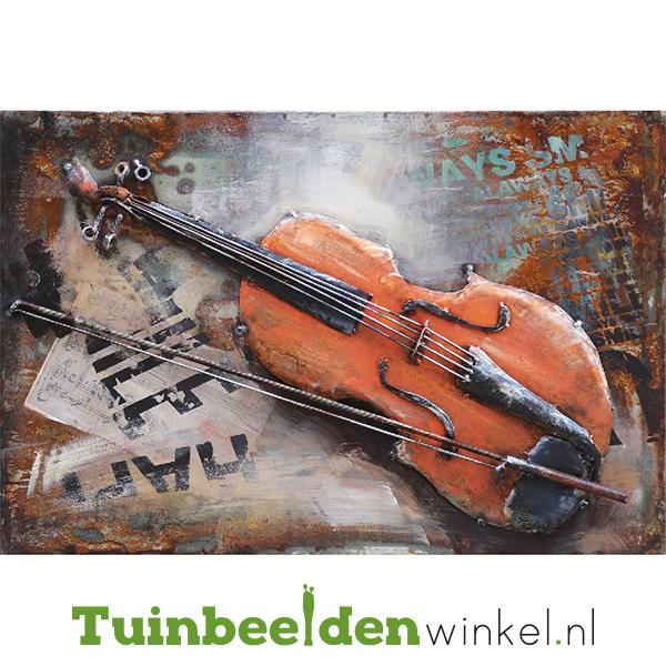 Metalen schilderij ''De viool'' TBW000485