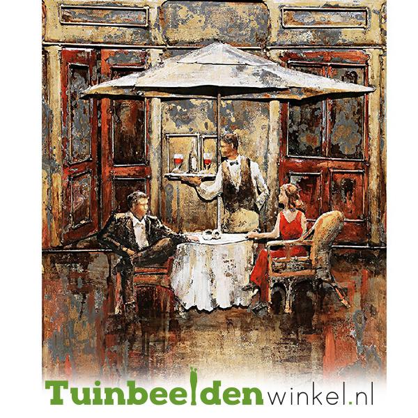 Metalen schilderij ''First date'' TBW001124