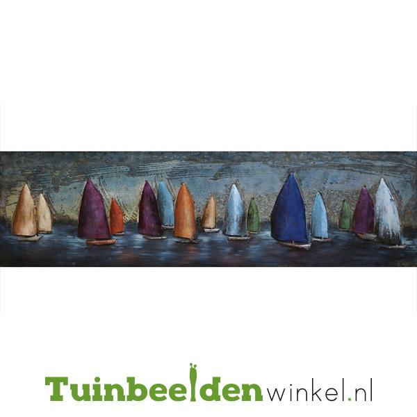 """Metalen schilderij """"Gekleurde zeilboten"""" TBW000895"""