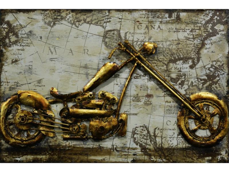 """Metalen schilderij """"Motortrip"""" TBW000663sc"""