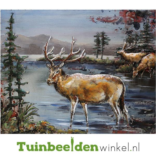 Metalen schilderij ''De Herten'' TBW001224