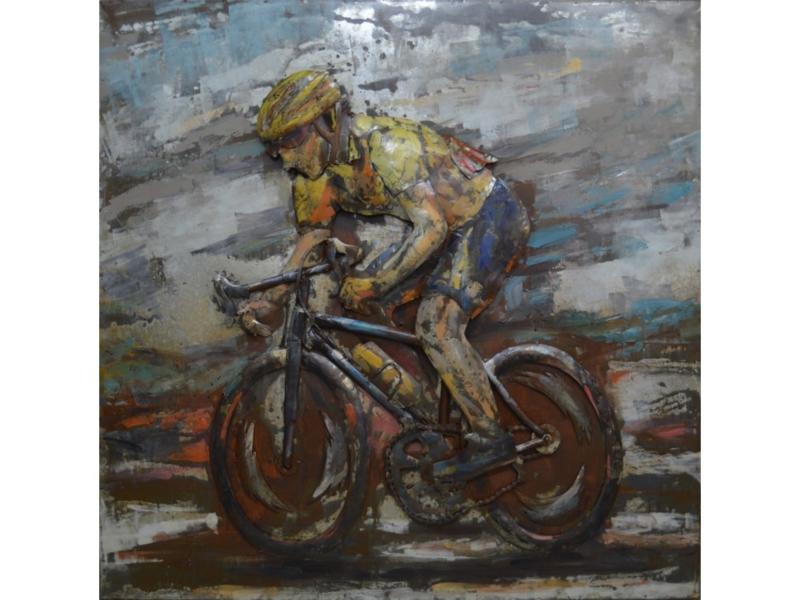 Fiets schilderij ''De gele trui'' TBW000924