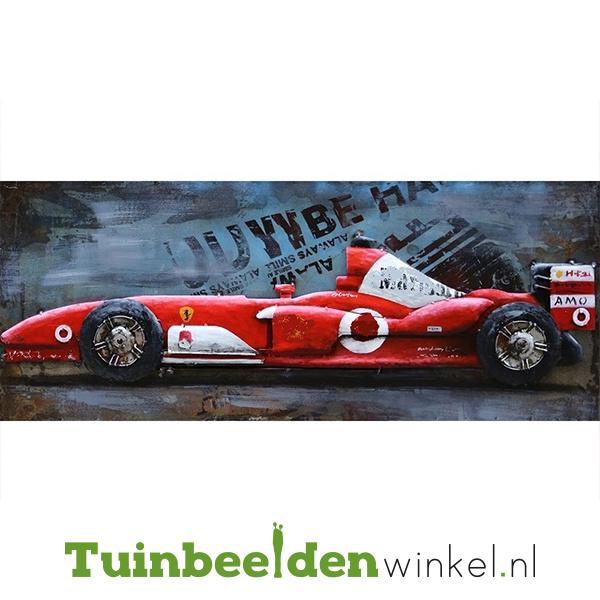 """Metalen schilderij """"De rode sportauto"""" TBW000655"""