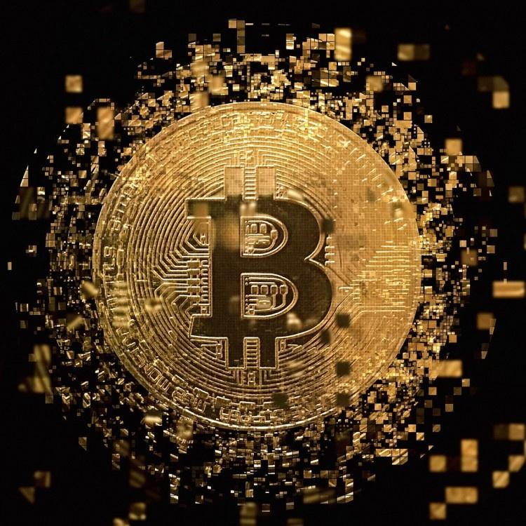"""Schilderij RVS """"Bitcoin schilderij"""" TBW002sc"""