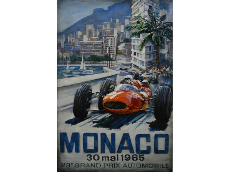 """Metalen schilderij """"Grand Prix Monaco"""" TBW001802"""
