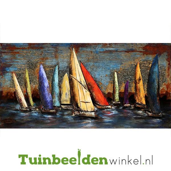 """Boot schilderij """"De zeilbootjes"""" TBW000380"""