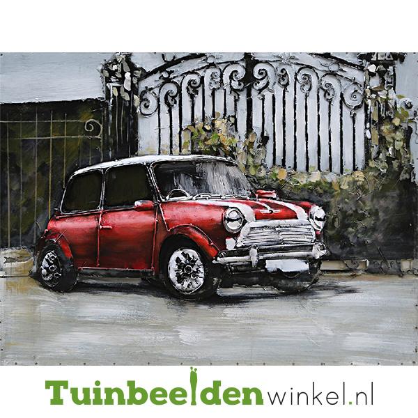 3D schilderij ''De rode mini cooper'' TBW001328
