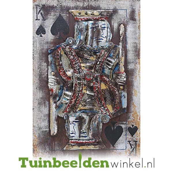 3D schilderij ''De schoppen koning'' TBW001641