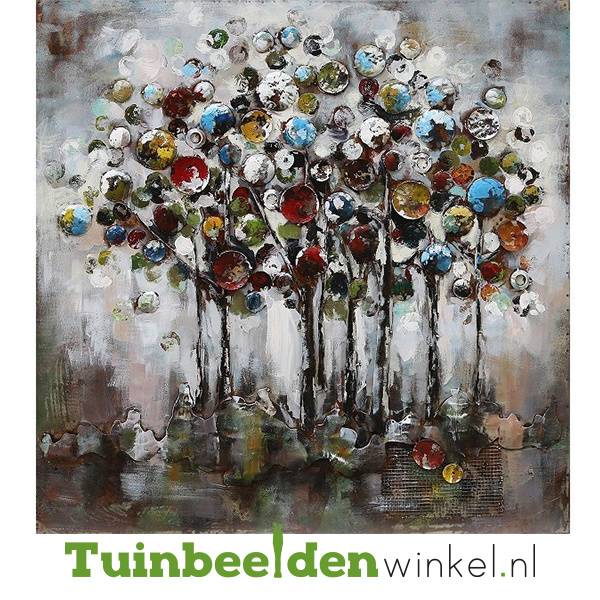 """Bloemen schilderij """"Gekleurde cirkels"""" TBW000785"""