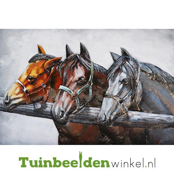 """Dieren schilderij """"De drie paarden"""" TBW001264"""
