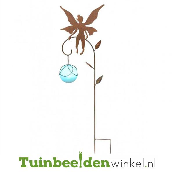 Tuinsteker ''Fee met glazen blauwe bal'' Tbw0871pr7