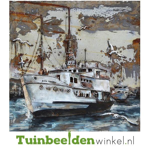 """Boot schilderij """"De witte boot"""" TBW000350"""
