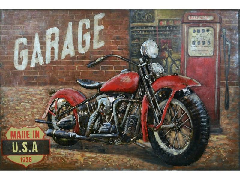 """Metalen schilderij """"Garage"""" TBW001805sc"""