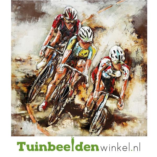 """Fiets schilderij """"De drie wielrenners"""" TBW000172"""
