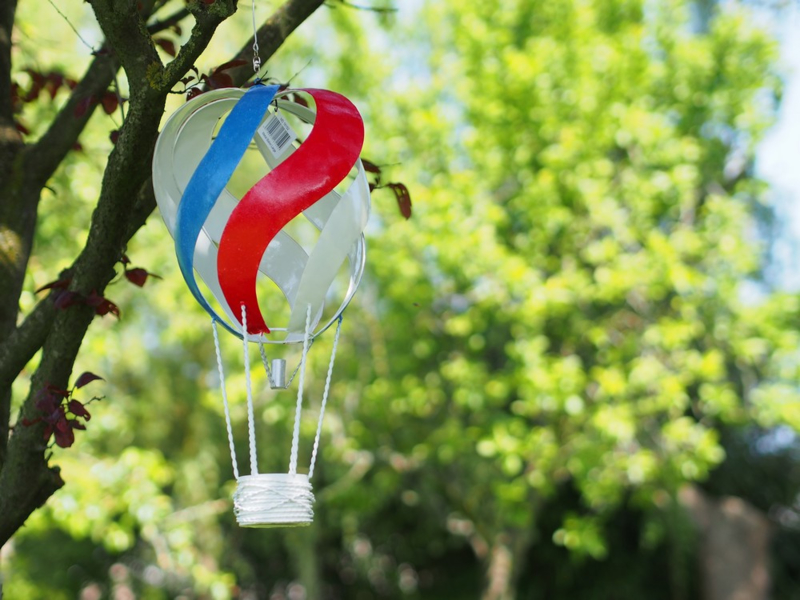 "Metalen figuur ""Luchtballon 2"" TBW16152me"